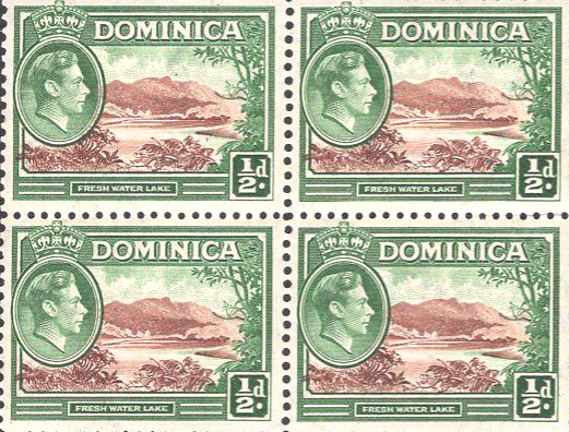 Dominica-GVI-1-2d-Block-of-4-MNH-97